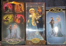 Disney Designer Fairytale Dolls Heros&Villains Frozen Elsa And Hans LE New!