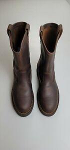 "DANNER Bull Run 10"" Brown Leather Soft Toe Wellington Boots 15580 Men 9"