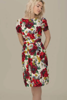 Emily and Fin Maggie Dress Red Blossom Poppies Sample Sale