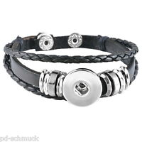 5 Armband Armreif Druckknopf Klick Magnetverschluss Wechselschmuck 19cm