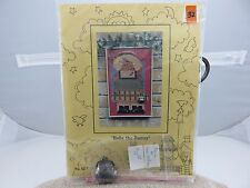 Mosey 'N Me BABS THE BUNNY Cross Stitch Pattern Kit w/Fabric & Purse NEW 1997