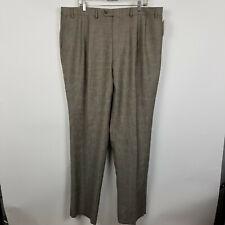 NWT Lauren Ralph Lauren Pleated Unhemmed Plaid Mens Dress Pants Size 42x36