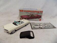 AMT 1963 BUICK RIVIERA CONVERTIBLE MODEL CAR MPC 60s ISSUE DISPLAY+BOX CUSTOM!