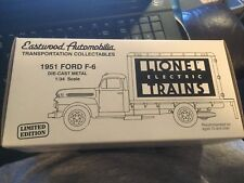 Eastwood 19-0104 1:34 1951 Ford F-6 Die-Cast Metal Lionel Box Truck