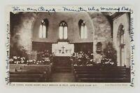 Postcard Church Club Chapel Lake Placid Club New York