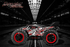"""REDCAT RACING TR-MT8E WRAP GRAPHICS DECALS """"GEARHEAD"""" FITS OEM BODY PARTS RED"""