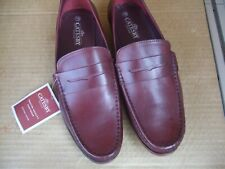 catesby size uk10 brown leather loafers / boat shoes