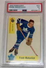 1958 PARKHURST HOCKEY CARD FRANK MAHOVLICH # 33 NM PSA EX
