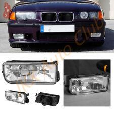 Pair Clear Lens Bumper Fog Light Lamps Housing k For BMW E36 1992-1998 3 Series