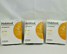 Lot Of 3 Habitrol Nicotine Transdermal Patch 14mg Step 2 Stop Smoking 42 patches