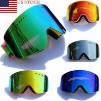 Anti-UV Snow Lens Framless Outdoor Travel Snowboard Ski Goggles Protect Glasses