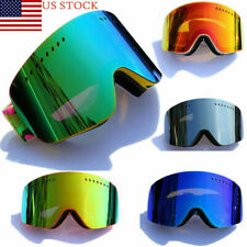 Anti-UV Snow Lens Framless Outdoor Travel Snowboard Ski Goggles Protect Glasses