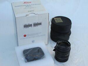 Leica 11874 35mm f:1.4 ASPH Summilux lens with cap/hood/pouch/BOX US SELLER MINT