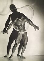 1987 HERB RITTS large Vintage Photo Gravure MALE NUDE WITH BUBBLE Physique