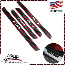 4PCS Black Rubber Car Door Scuff Sill Cover Panel Step Protector For Toyota TRD