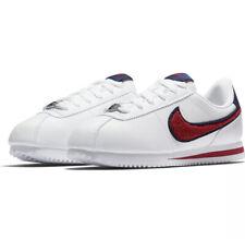 Nike Cortez Leather Fuzzy Swoosh SE White/University Red-Blue AA3496 100 Size 6Y