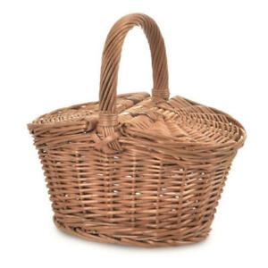 Egmont Toys Picknickkorb Kinder leer Weidenkorb mit Deckel Einkaufs Korb klein