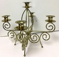 Vintage Home Goods Home Interior & Gifts Brass  5 Candle Tabletop Candelabra
