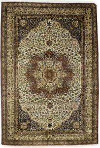 Handmade Floral Classic Design 6X9 Agra Jaipur Oriental Rug Wool Decor Carpet
