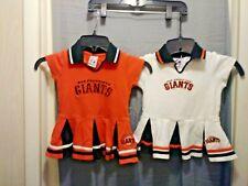 2- San Francisco Giants,1-Orange and 1- White Toddler 2T Dresses . Majestic.