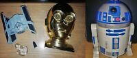 Vintage Star-Wars C-3PO Head Cantina + R2-D2 Droid Jabba's Palace + Spaceship!