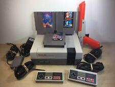 Nintendo NES Console System Bundle Zapper Mario Duck Hunt Double Dragon Tetris