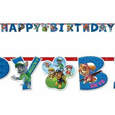 1.6m Paw Patrol Puppy Pets Children's Birthday Party Letter Banner Decoration UK
