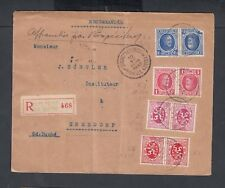 BELGIUM 1936 TETE BECHE REGISTERED COVER BRUSSELS MIDI TO ERMSDORF LUXEMBOURG