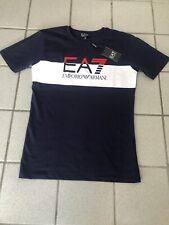 Emporio Armani EA7 T Shirt Mens BLUE New With Tags SMALL