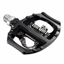 Shimano A530 Aluminum SPD Road Dual Platform Pedal Set w/ Cleats (Black)