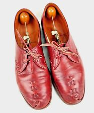 Cordwainers Shop custom handmade Tyrolean Oxford brown leather shoes Sz 9B Vtg