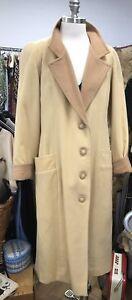 """Rare Vintage Lanvin Women's Wool Coat - 1970's/1980's, armpit to armpit 20.5"""""""