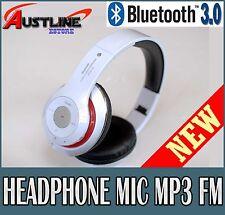 Bluetooth V3.0 Wireless Stereo Headset Headphone Mic 4 iPhone iPad Mobile Stn-16
