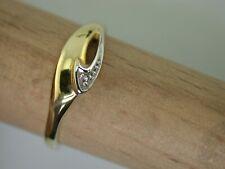 Gelbgoldring 585 mit Diamant ungetragen aus Juwelierauflösung G.59