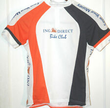 Rare ING BANK BIKE CLUB Cycling Race Jersey USA Made ZIP Team Mountain ROAD