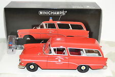 Minichamps Paul's Model Art 1/18 Opel Rekord Caravan 1958 Pompiers.