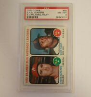 1973 Topps #65 ERA Leaders Steve Carlton PSA 8