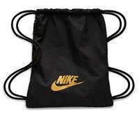 Nike Sportbeutel Gymbag NIKE HERITAGE GYMSACK 2.0 Turnbeutel schwarz gold