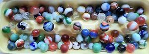 Lot Of 100 Vintage Marbles Unsorted. Lot  #1