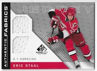 2007-08 SP GAME USED ERIC STAAL AUTHENTIC FABRICS DUAL JERSEY #AF-ES CREASING!!!