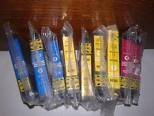 Lot de 9 cartouches EPSON 16 compatibles : 4 JAUNE - 3 CYAN - 2 MAGENTA