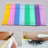 100pcs Disposable Eyelash Extension Brush Swab Applicators Mascara Mini Brush