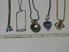 Vtg lot of 5 pendant necklace #! (MORE COSTUME JEWELRY COMING)