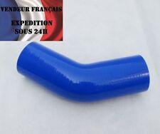 Durite Silicone coudé 45°, SC SPORT, 80 mm int. lg.90 mm, Bleu, VENDEUR FRANCAIS