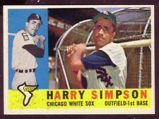 1960 TOPPS HARRY SIMPSON CARD NO:180 NEAR MINT CONDITION