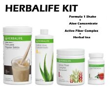 HERBALIFE KIT FORMULA 1 550g+ALOE CONCENTRATE+HERBAL TEA + ACTIVE FIBER COMPLEX