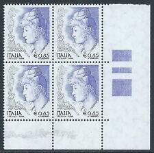 2004 ITALIA LA DONNA NELL'ARTE 0,85 EURO QUARTINA MNH ** - C0-4