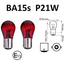 BA15S 21W Rote Lampen Birnen Glühlampen Glühbirnen rot E-Zeichen Bremslicht