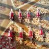 10 pcs Red Plastic Rubber Inline Check Valve Liquid Air One Way Non Return