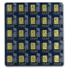 25 gram (25 x 1 gram) Pamp Suisse Fortuna Gold Bar Multigram in Assay Card